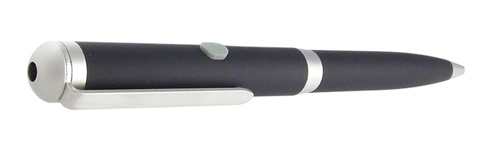 (650nm) Class: IIIA - Laser Pen Red Dot (Black w/Silver Trim) - Click Image to Close