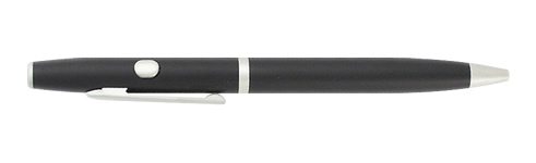 (650nm) Class: IIIA - Writer's Laser Pen (Black w/Silver Trim)